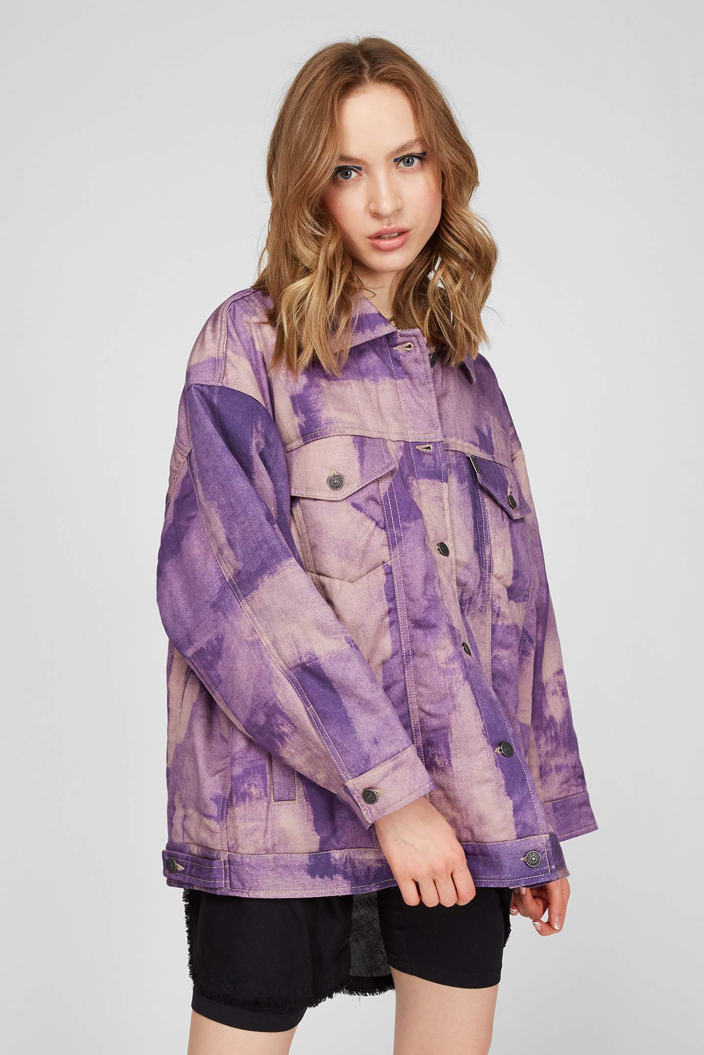 Женская фиолетовая джинсовая куртка G-SOJO 1