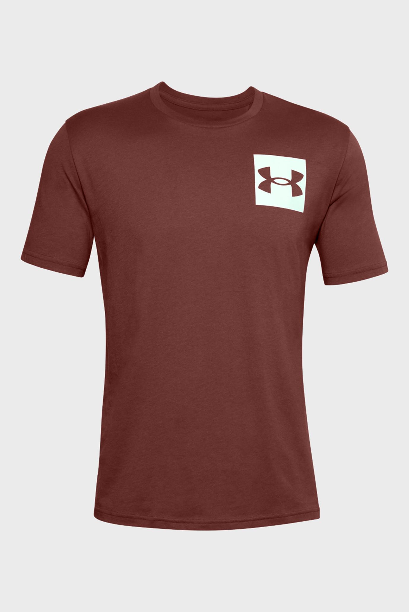 Чоловіча бордова футболка UA BOX LOGO SS 1