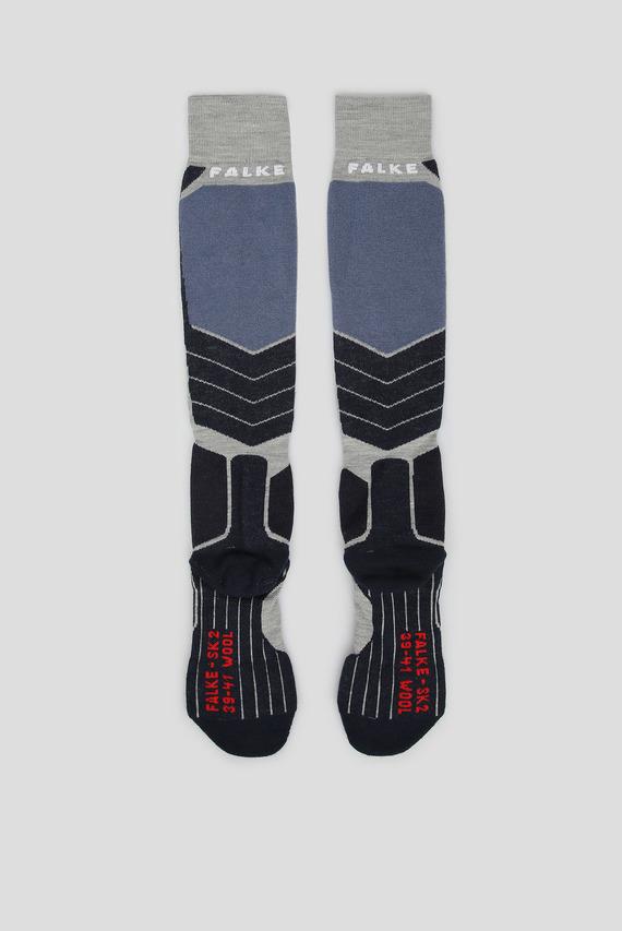 Мужские лыжные носки с узором SK2 WOOL