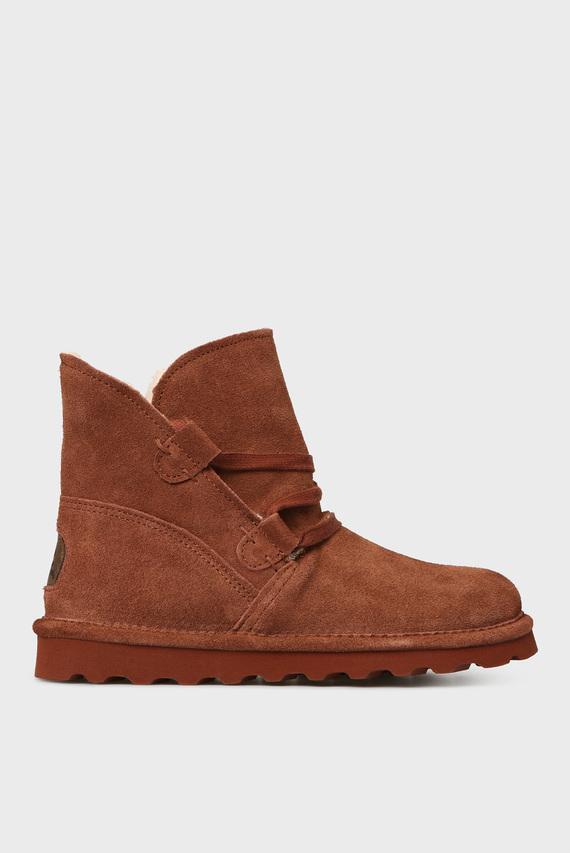 Женские рыжие замшевые ботинки ZORA