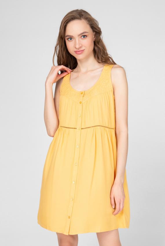 Женское желтое платье