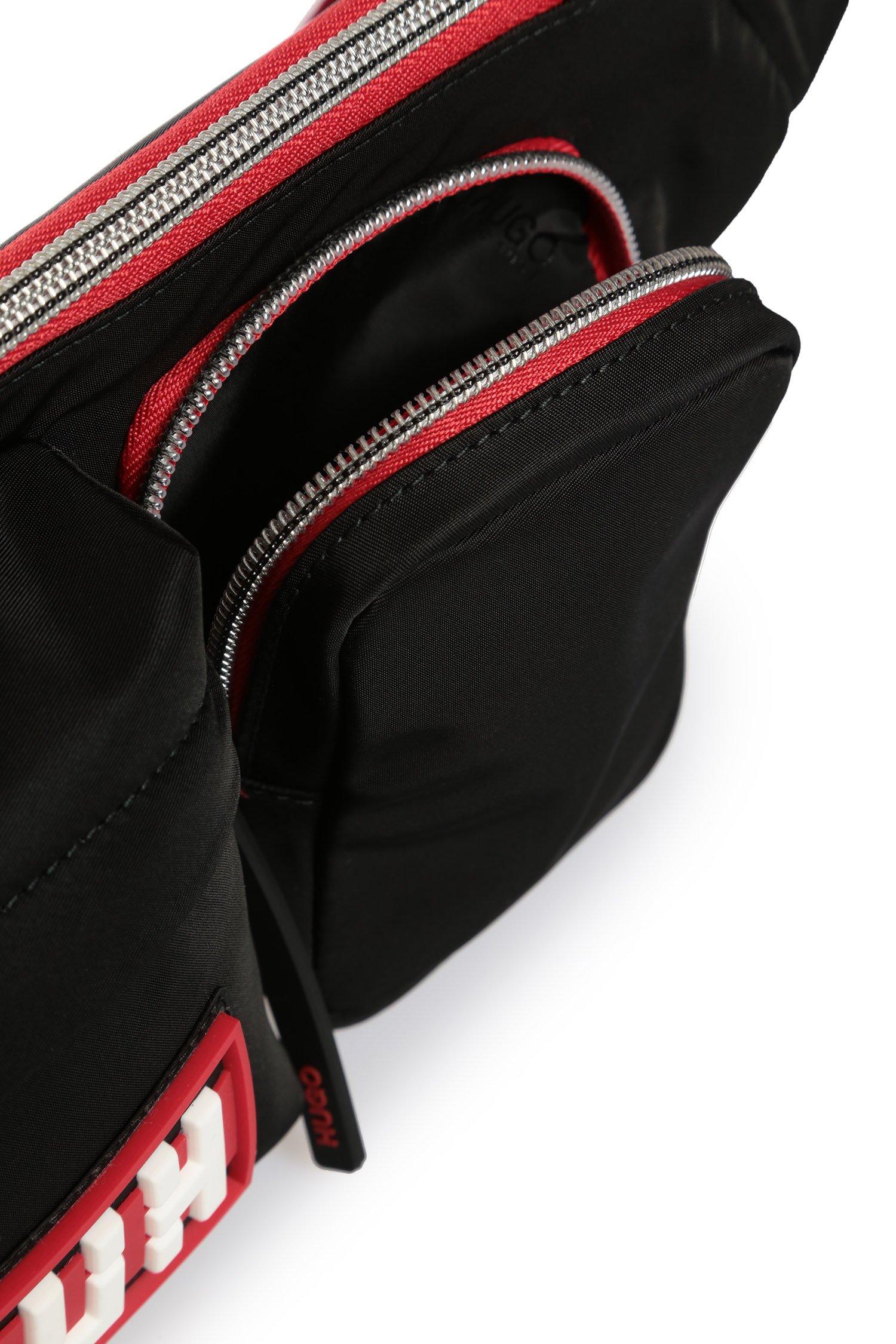 Мужская черная поясная сумка HUGO