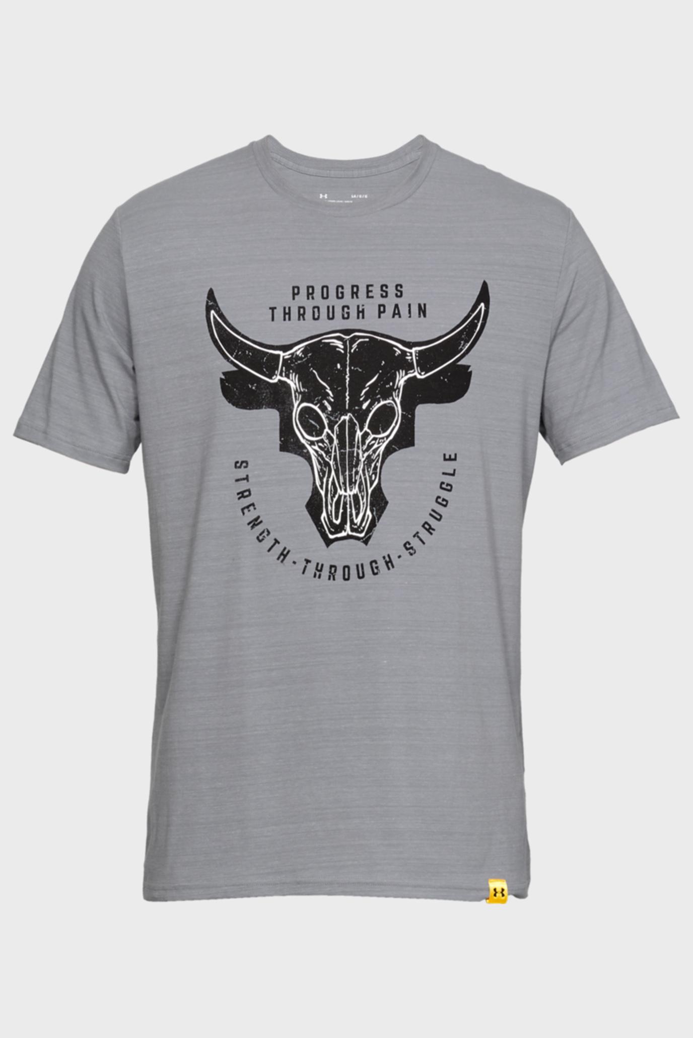 Купить Мужская серая футболка PROJECT ROCK PTP STS TEE Under Armour Under Armour 1330918-035 – Киев, Украина. Цены в интернет магазине MD Fashion
