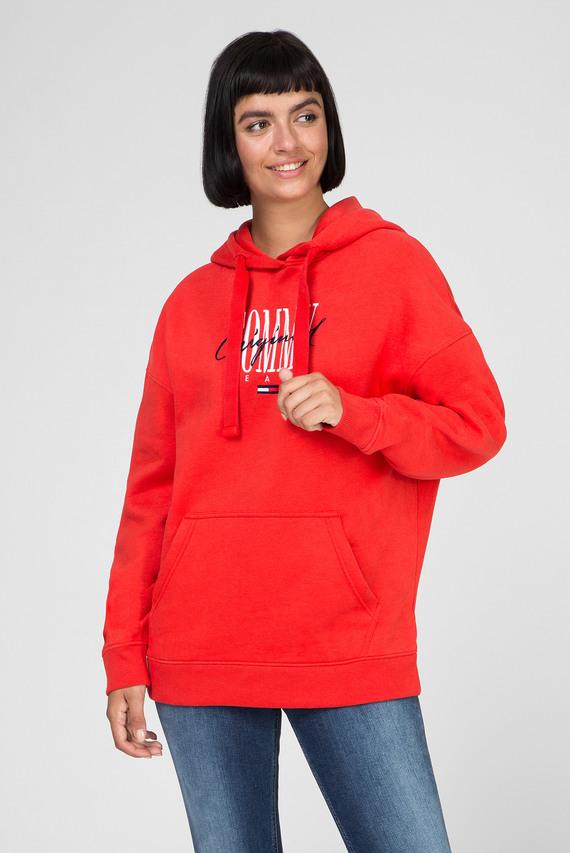 Женское красное худи TJW MODERN LOGO
