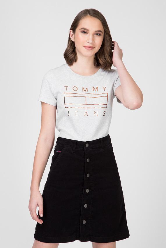 Женская серая футболка TJW METALLIC