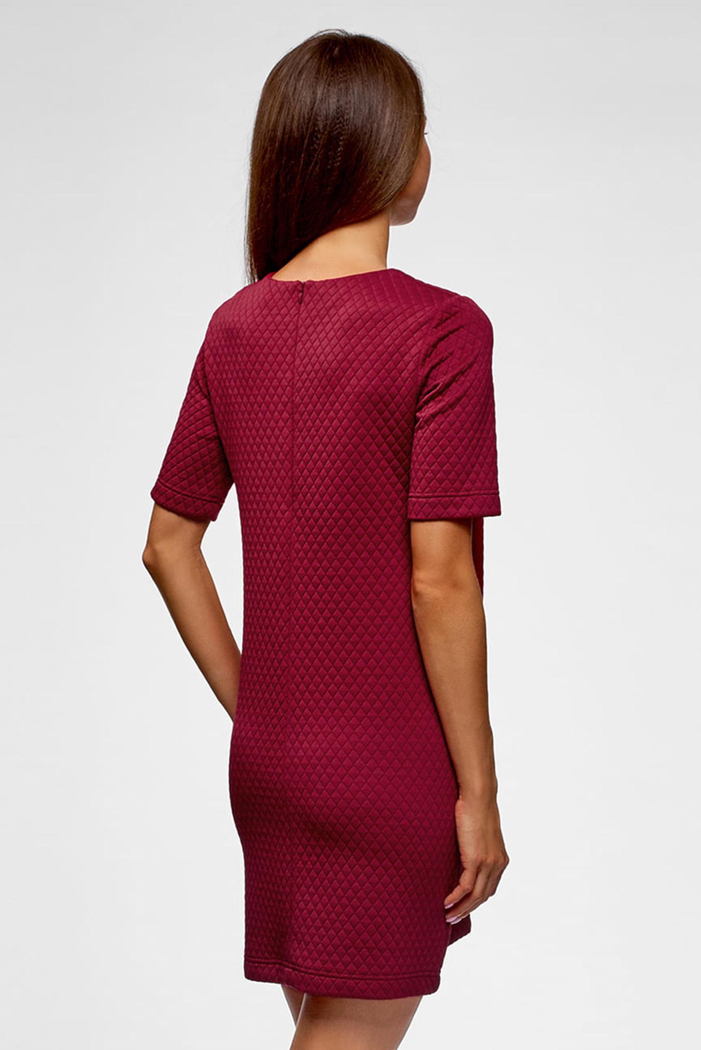 Женское бордовое платье Oodji