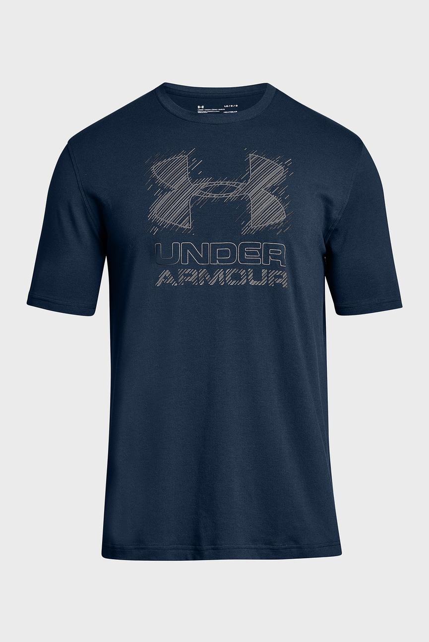 Мужская темно-синяя футболка Outside the Lines SS