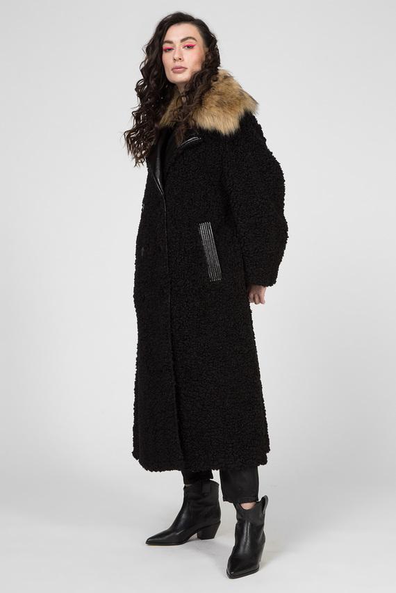 Женское черное пальто L-ASC