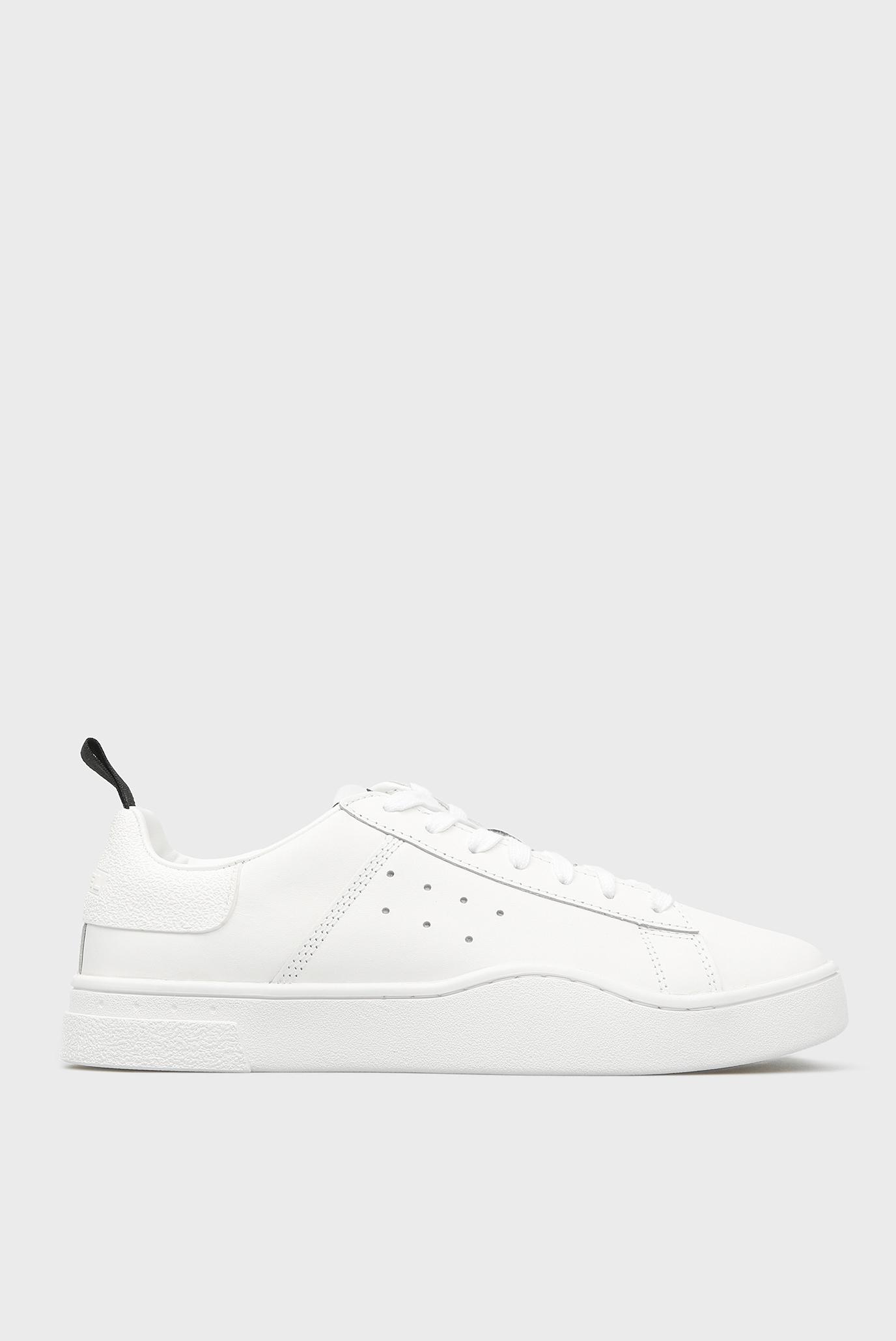 Женские белые кожаные сникеры H0038 1