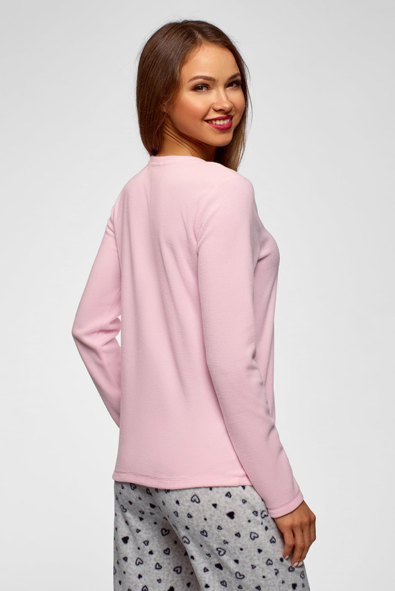 Женский розовый домашний джемпер