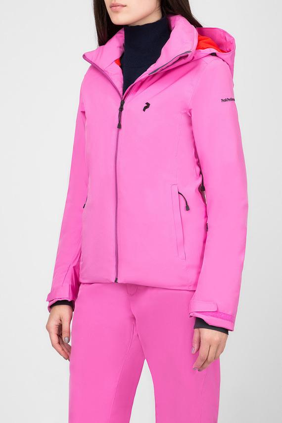 Женская розовая лыжная куртка