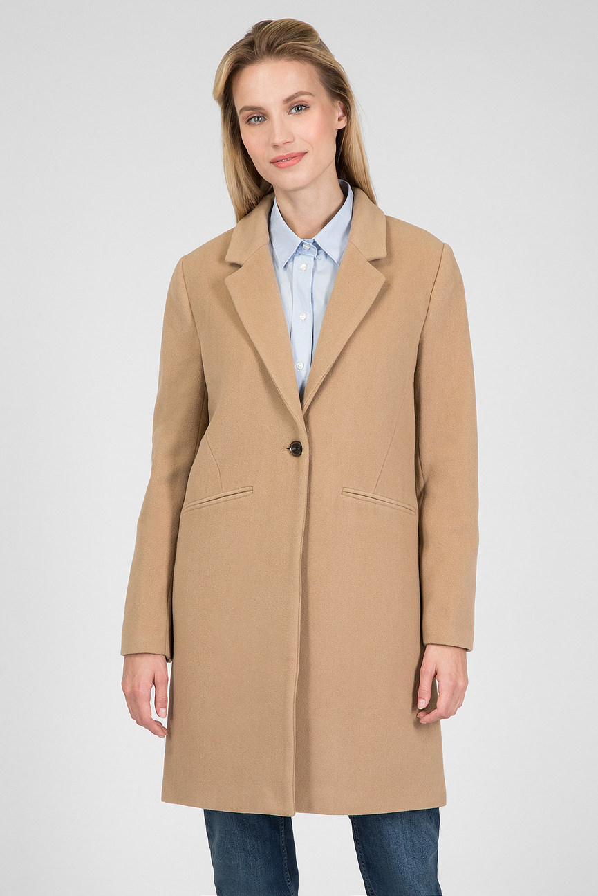 Женское бежевое пальто CLASSIC TAILORED COAT