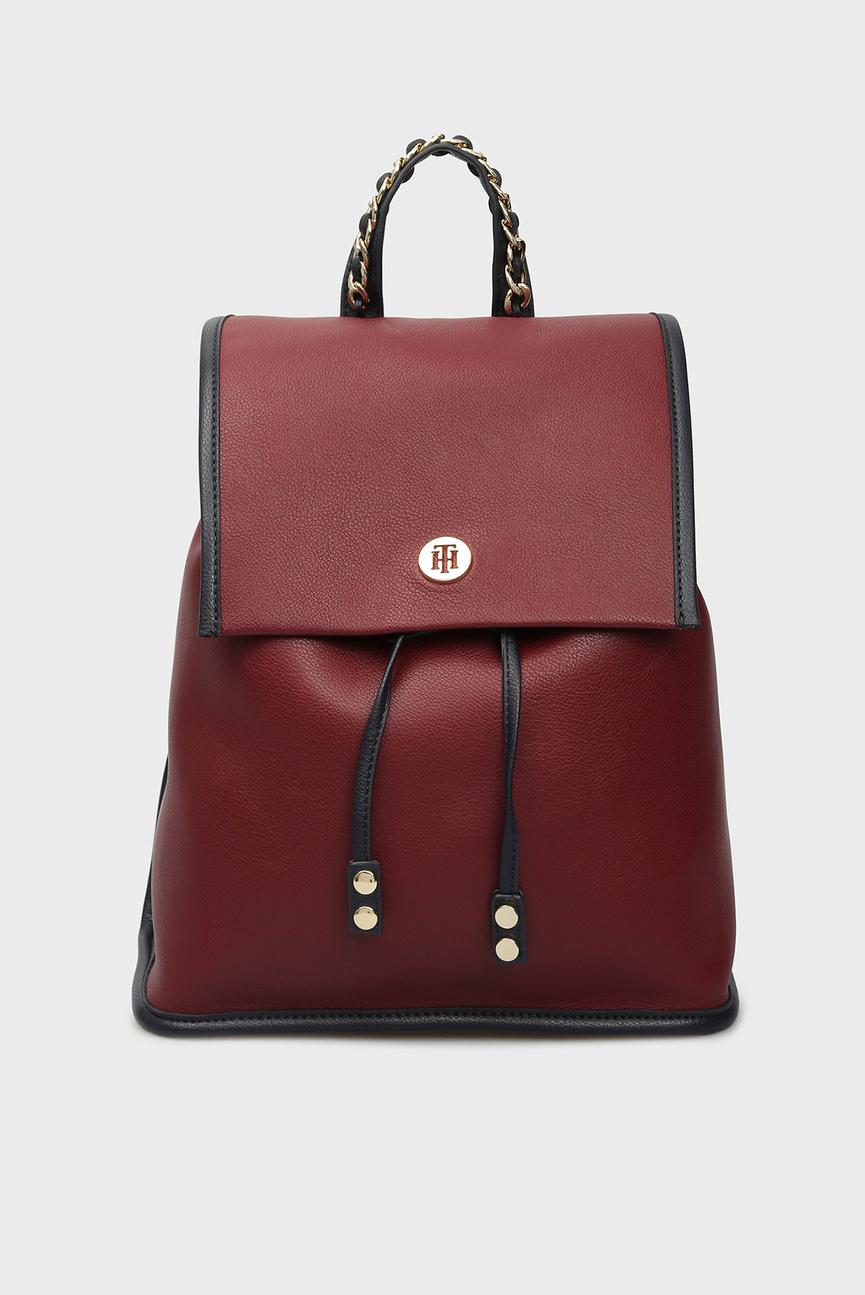 Женский бордовый рюкзак CHAIN