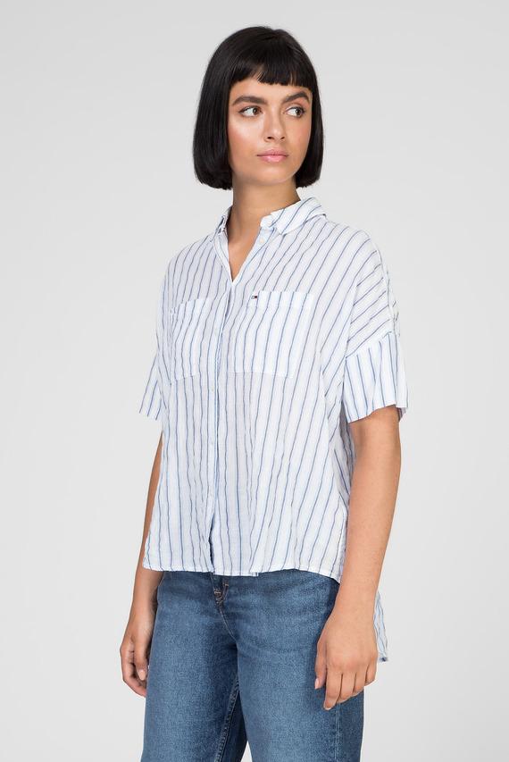 Женская голубая рубашка TJW SUMMER TEXTURED STRIPE SHIRT