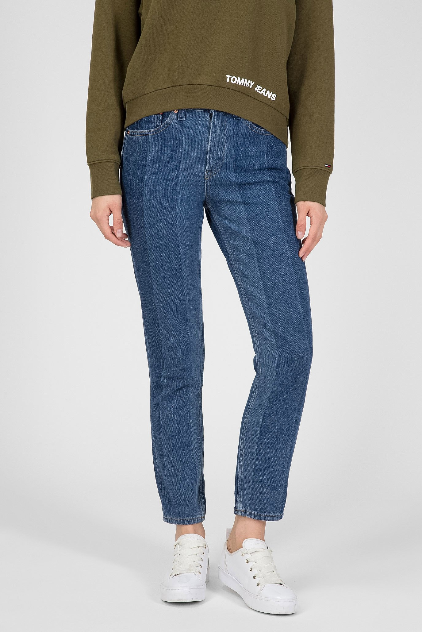 Купить Женские синие джинсы High Rise Slim Cropped IZZY Tommy Hilfiger Tommy Hilfiger DW0DW05036 – Киев, Украина. Цены в интернет магазине MD Fashion