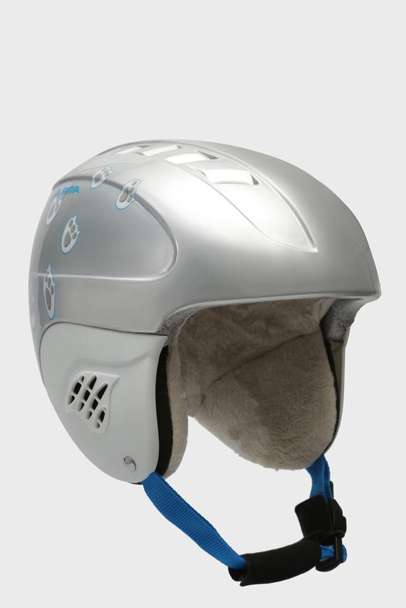Детский серебристый горнолыжный шлем Carat