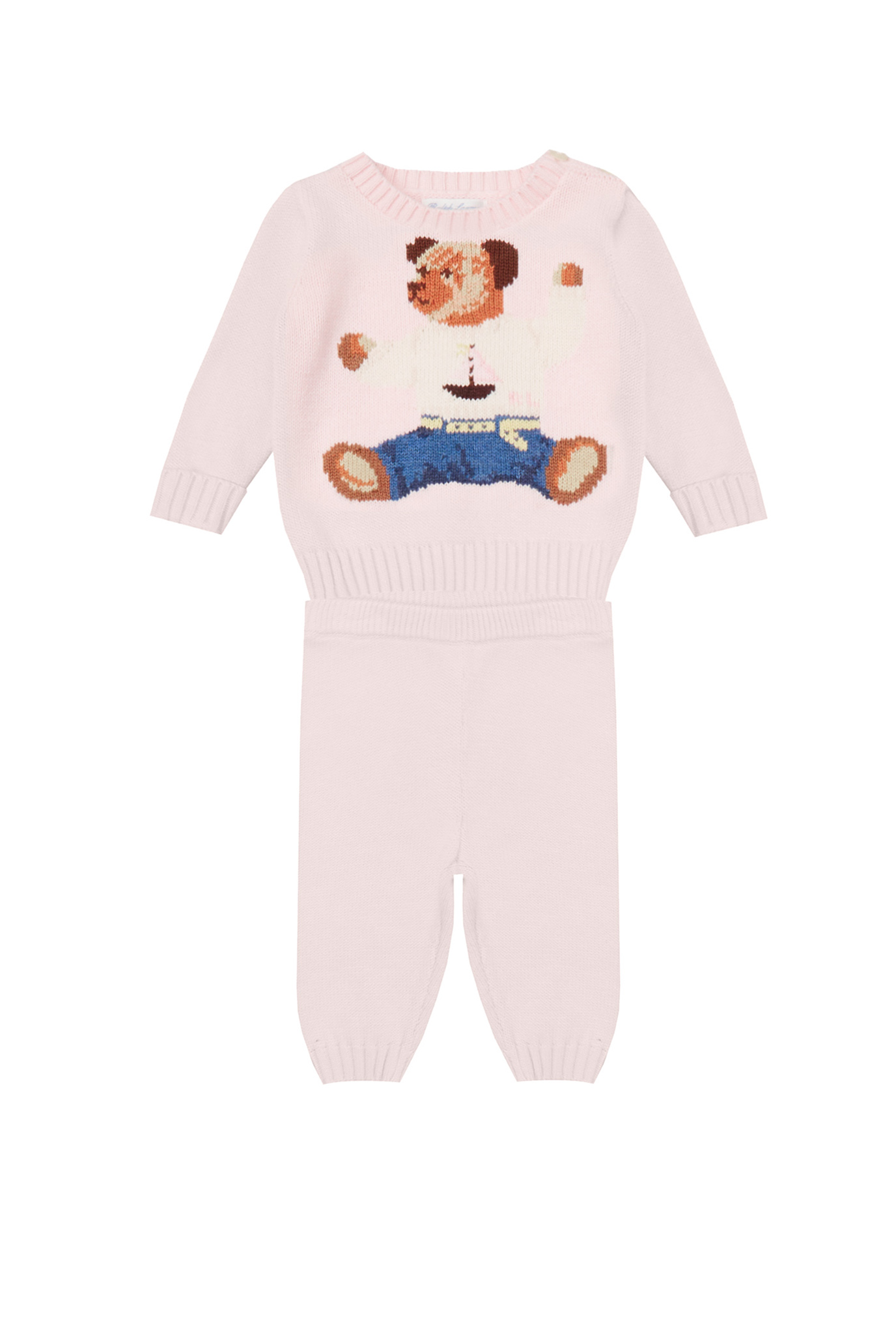 Дитячий рожевий комплект одягу (светр, брюки) 1