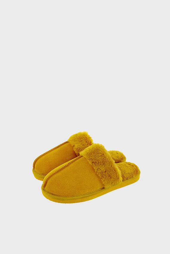 Женские желтые домашние тапочки REALSUEDEMULE