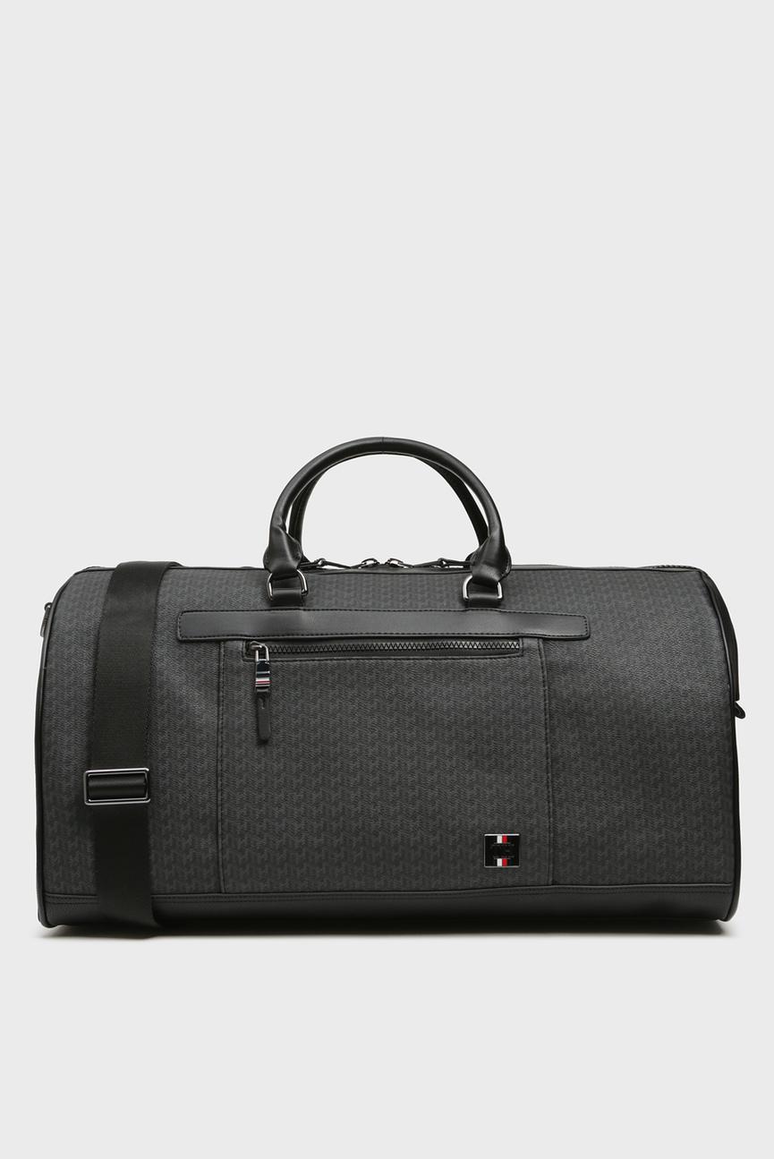 Мужская черная дорожная сумка COATED CANVAS MONOGRAM WEEKENDER