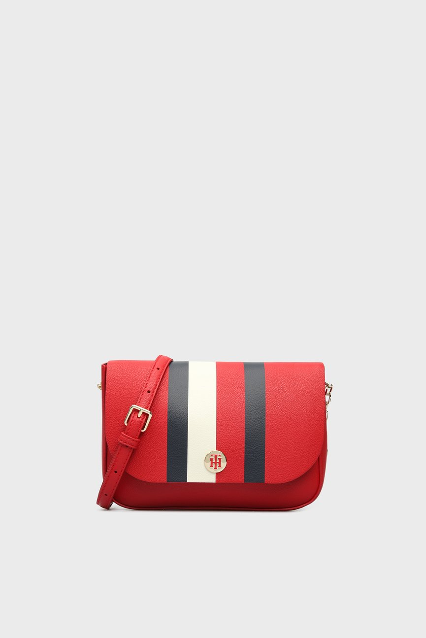 Женская красная сумка через плечо MY TOMMY CROSSOVER