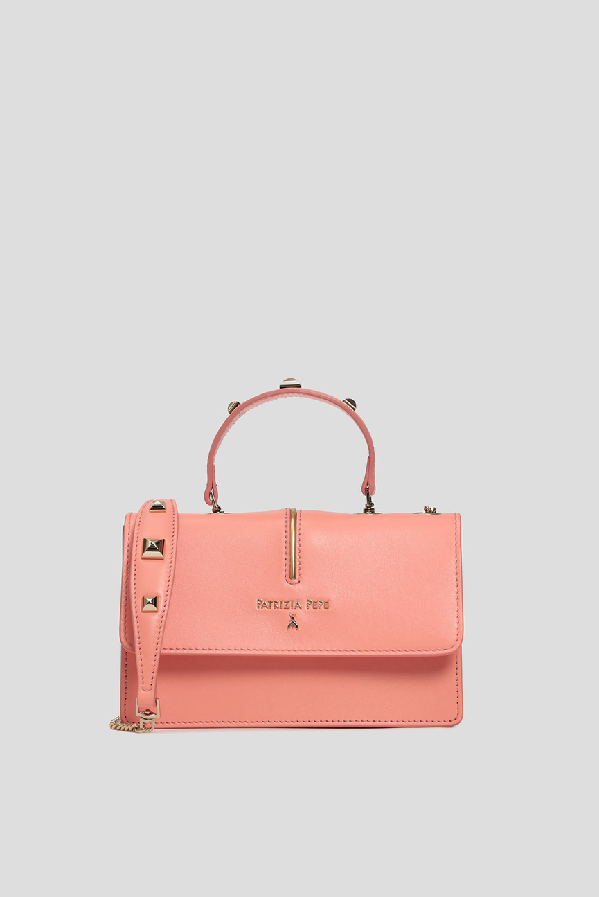 Женская коралловая сумка на плечо