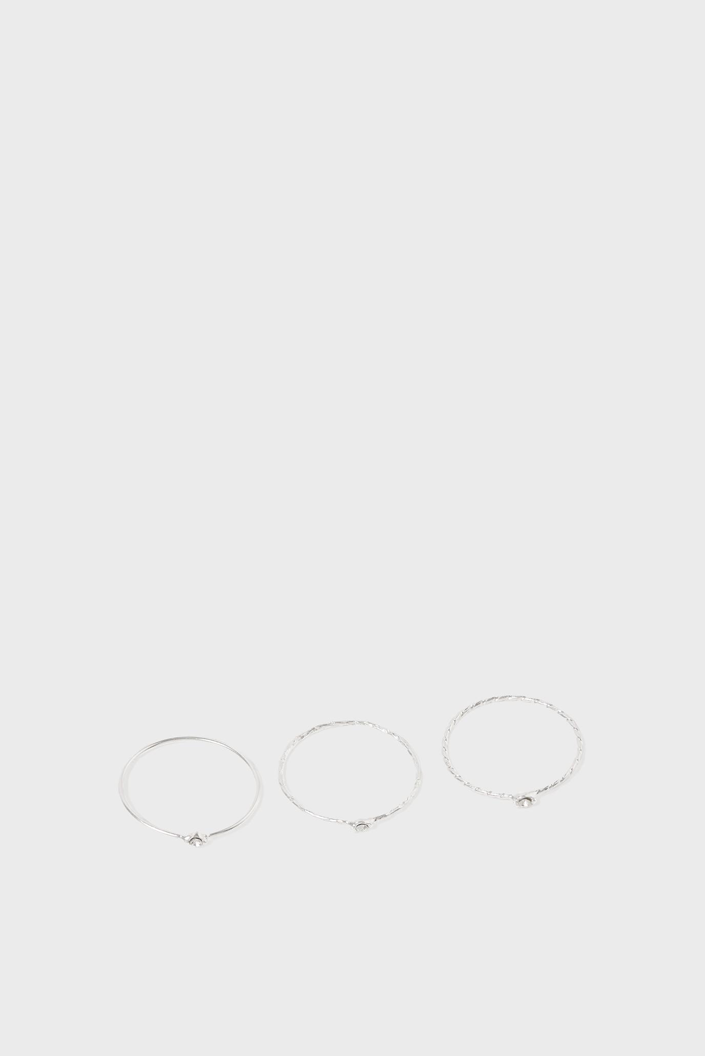 Женские серебряные кольца (3 шт) STACKINGRINGS 1