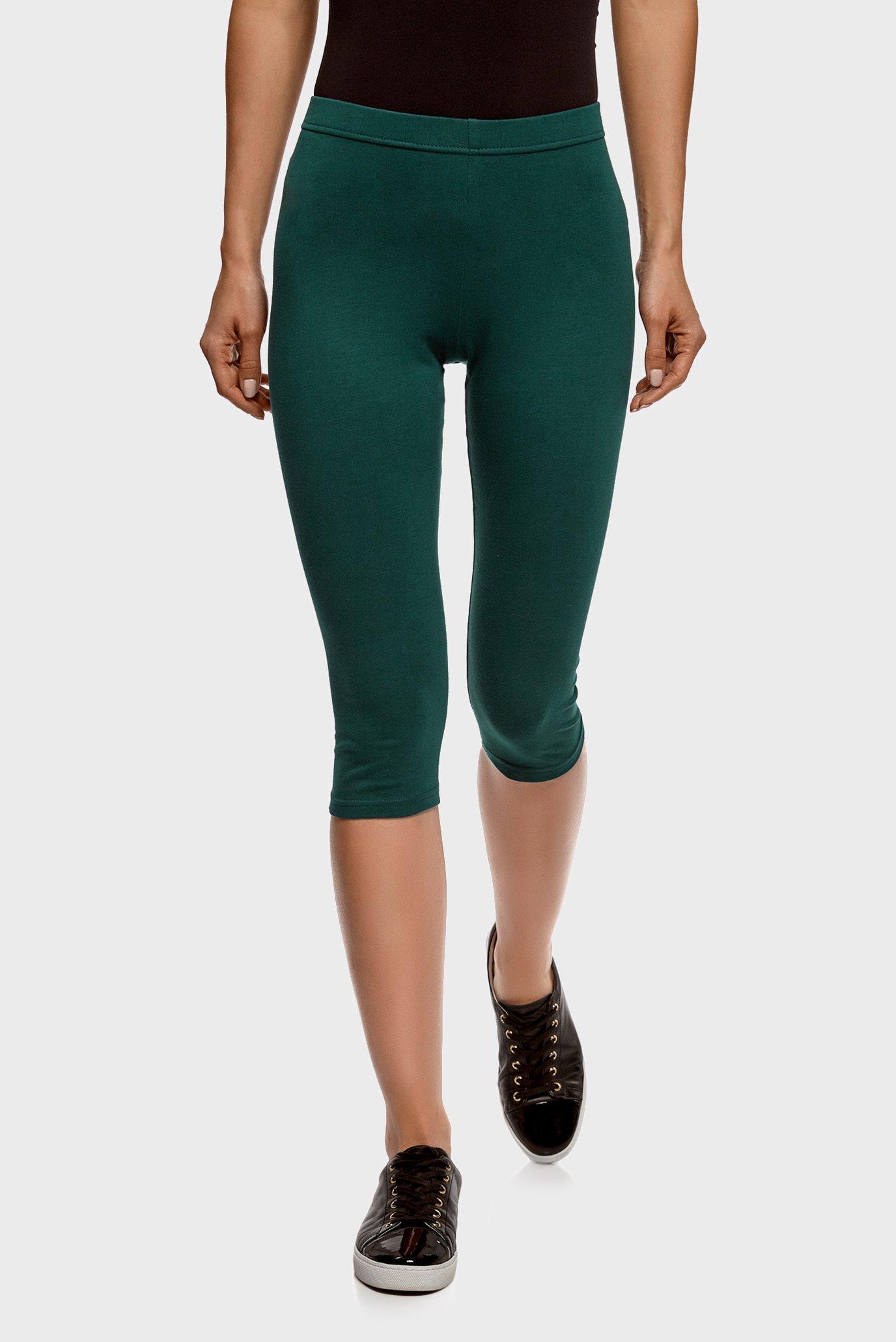 Женские зеленые леггинсы 1