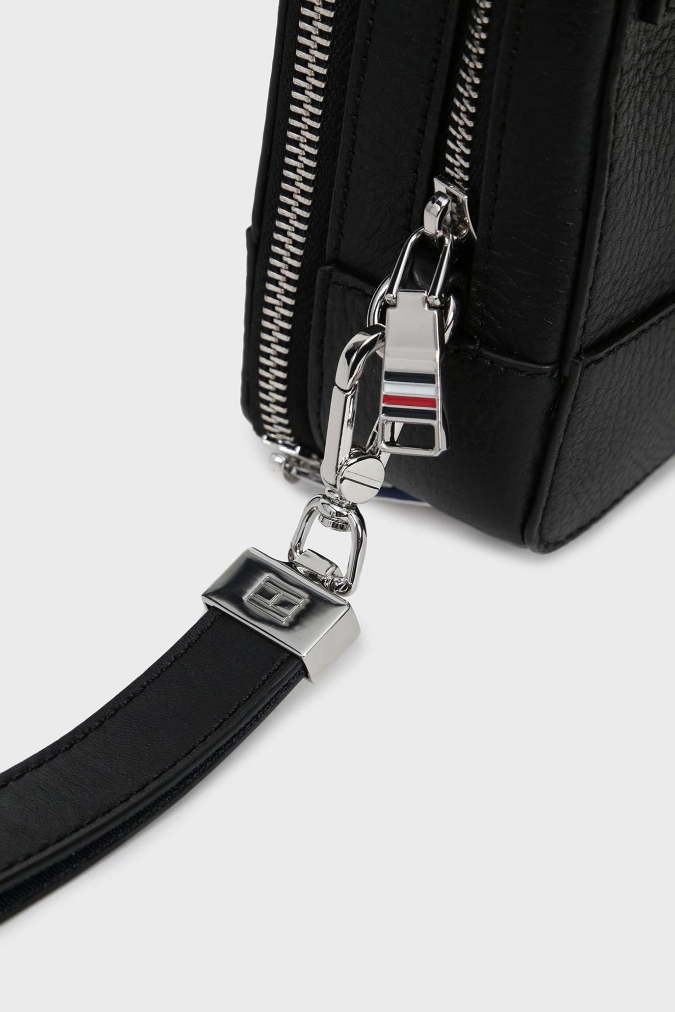 Купить Мужской черный кожаный несессер CORPORATE LEATHER MONEY BAG Tommy Hilfiger Tommy Hilfiger AM0AM04817 – Киев, Украина. Цены в интернет магазине MD Fashion