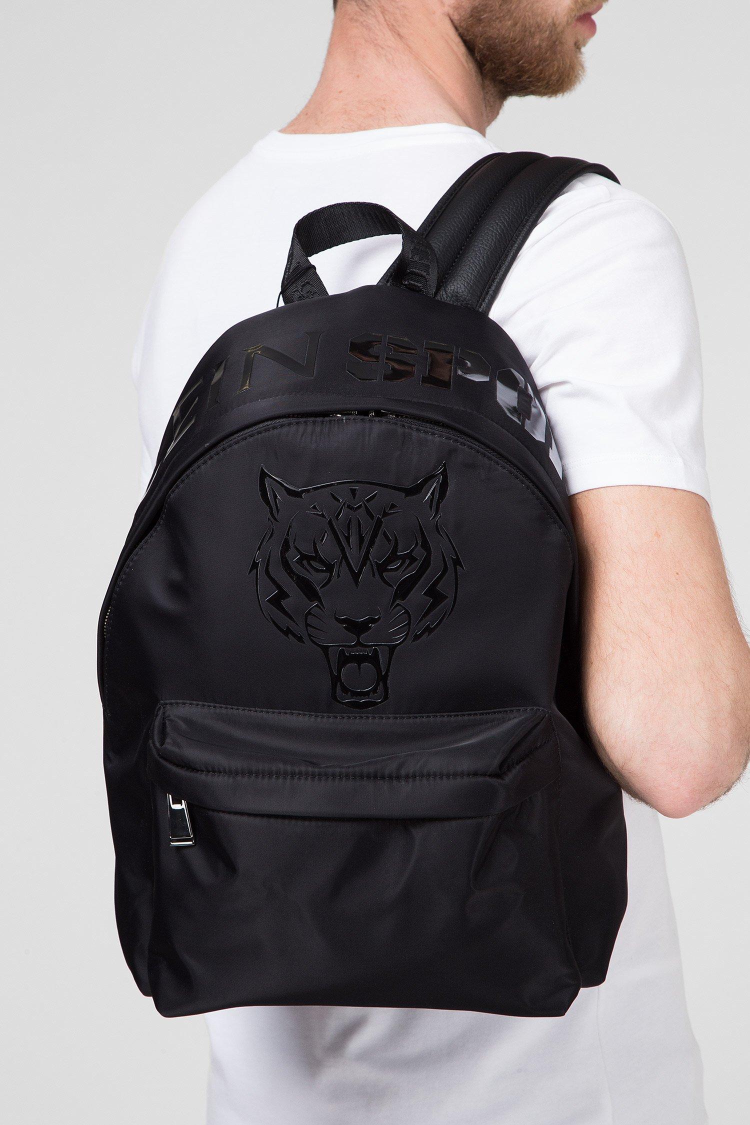 Мужской черный рюкзак TIGER Plein Sport