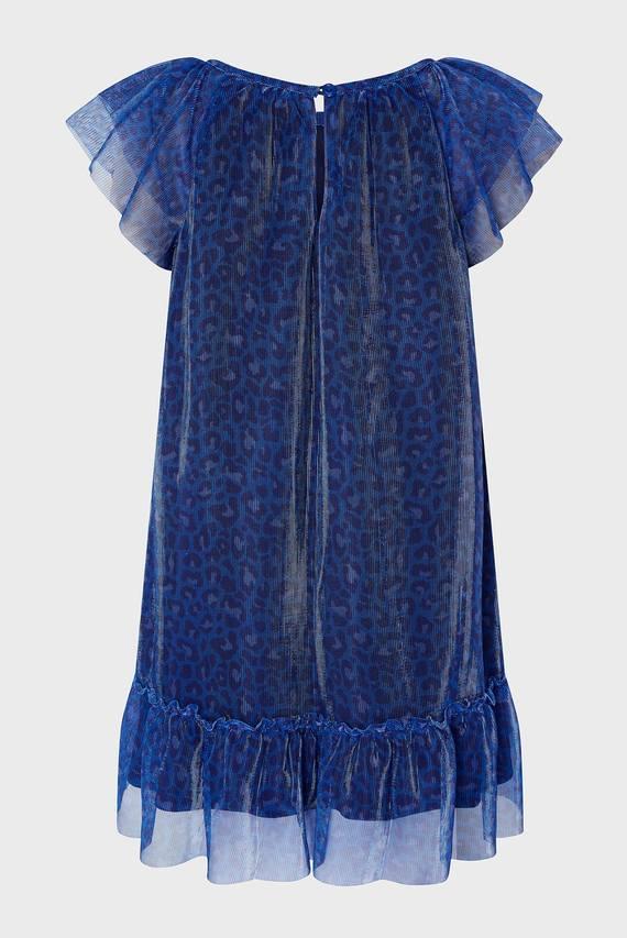 Детское синее платье Ava Animal Dress