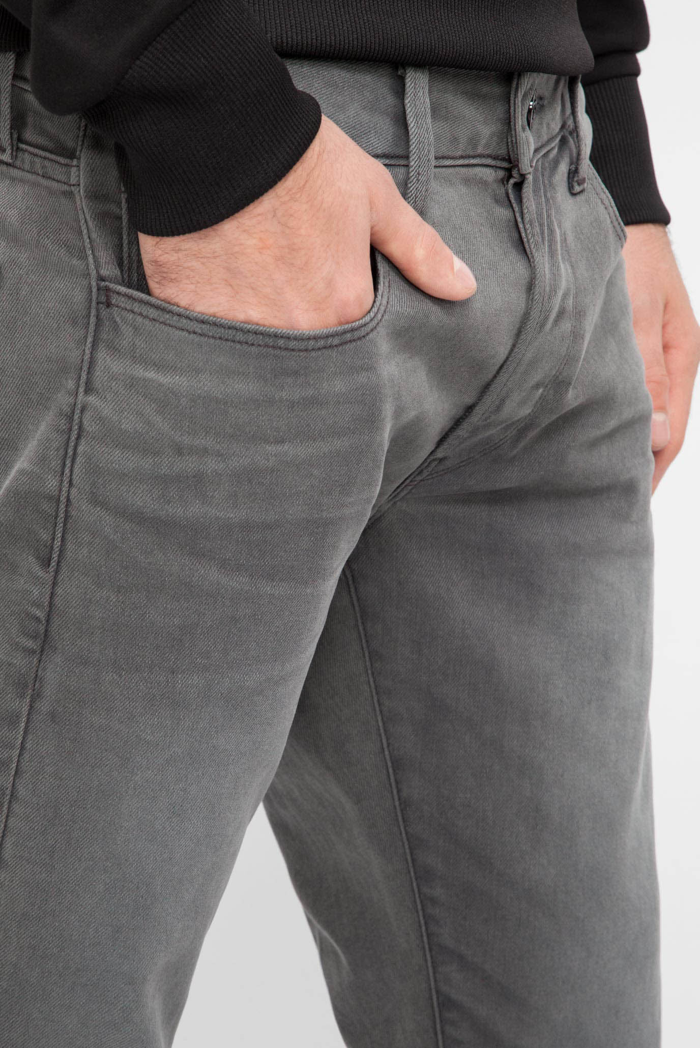 Купить Мужские серые джинсы Deconstructed Slim  G-Star RAW G-Star RAW D06188,7607 – Киев, Украина. Цены в интернет магазине MD Fashion