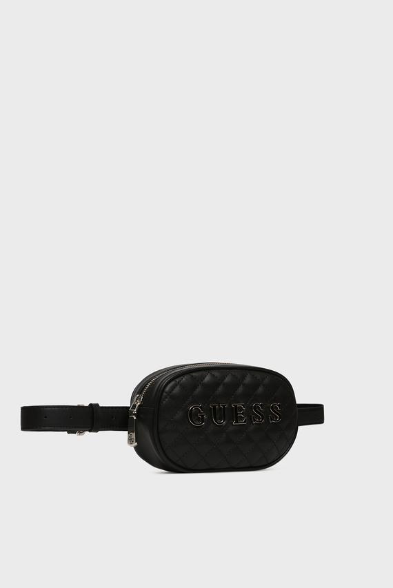 Женская черная поясная сумка GUESS PASSION XBODY BELT BAG