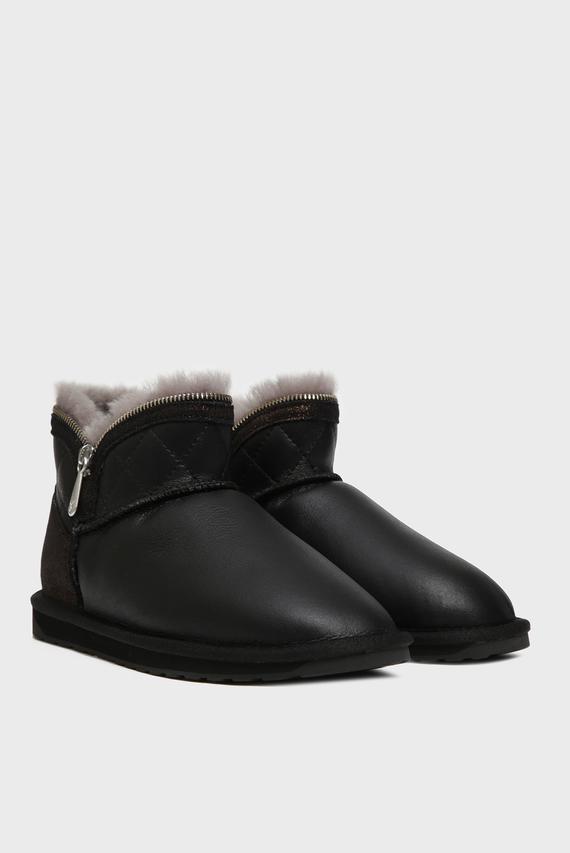 Женские черные кожаные угги Blender