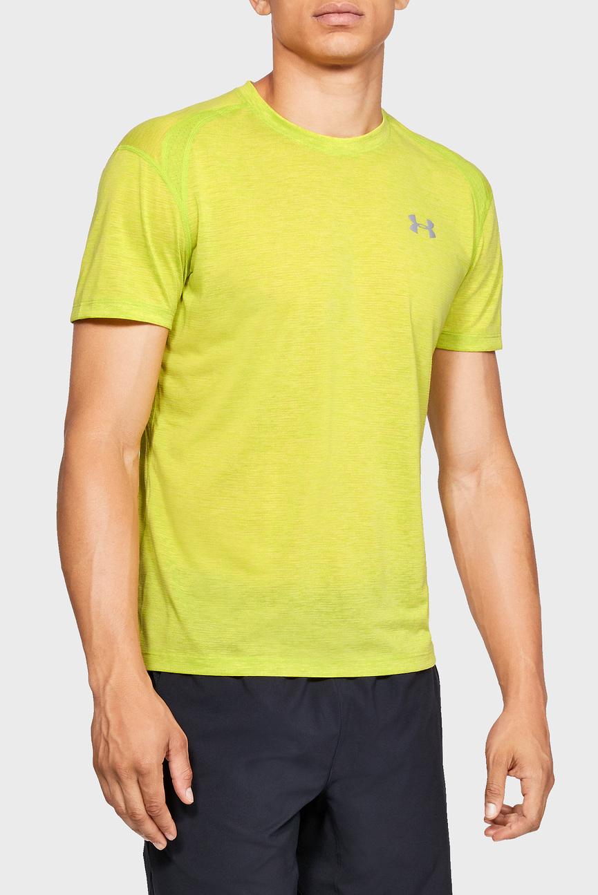 Мужская желтая футболка UA STREAKER 2.0 TWIST SS