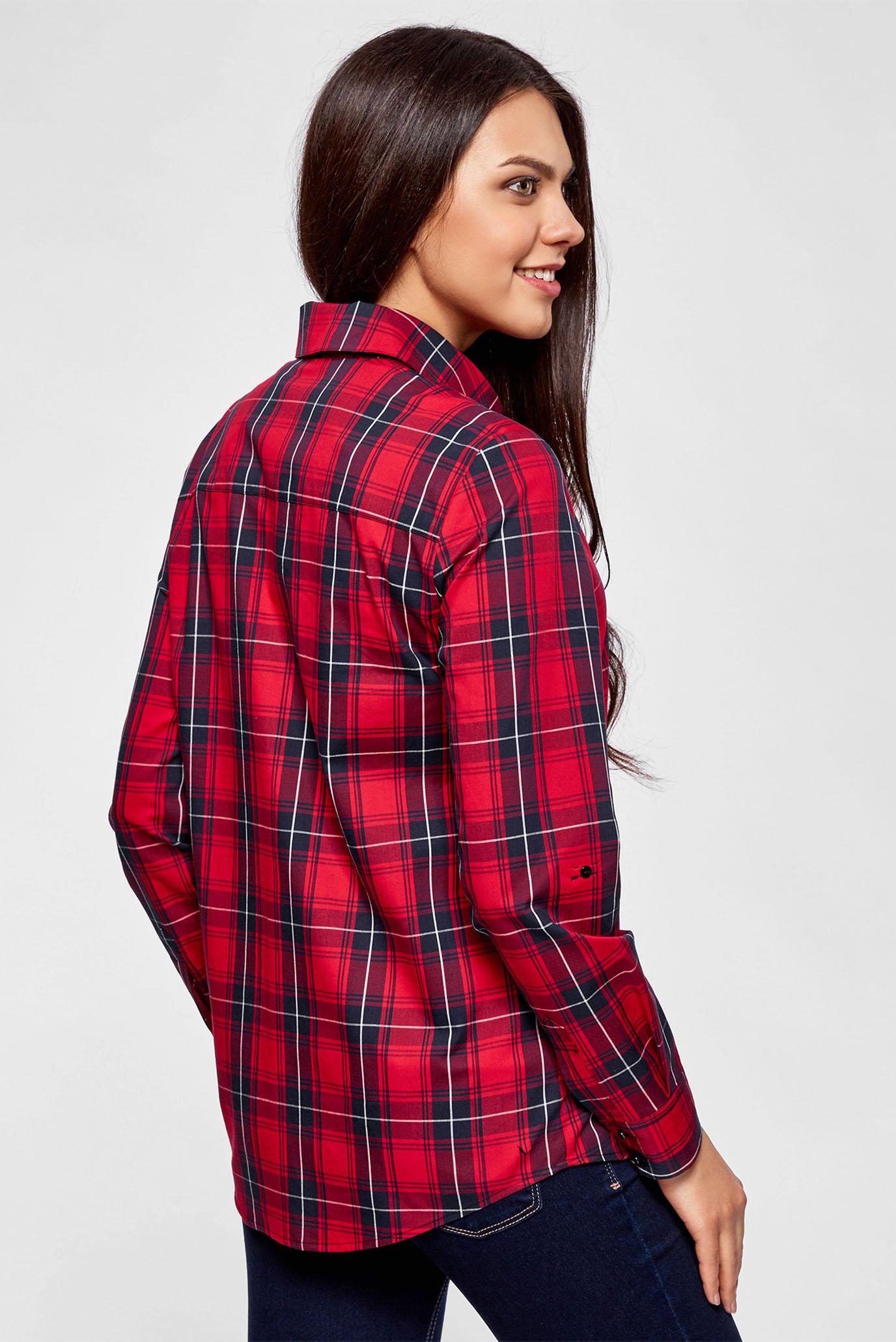 98fb3ea2a3e Купить Женская красная рубашка в клетку Oodji Oodji 11411099-3 43566 4579C  – Киев