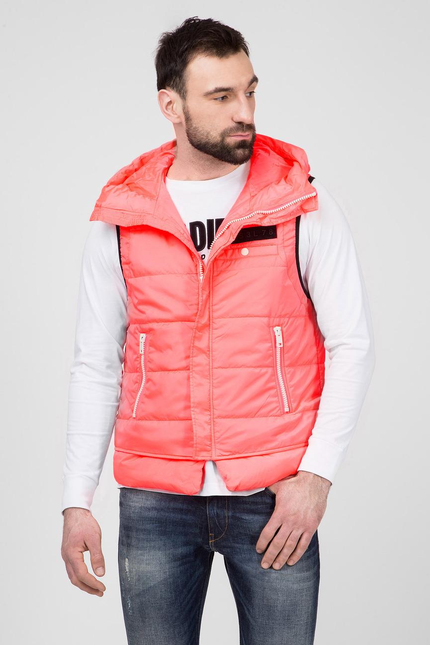 Мужской розовый жилет W-SUN-REV-SLESS
