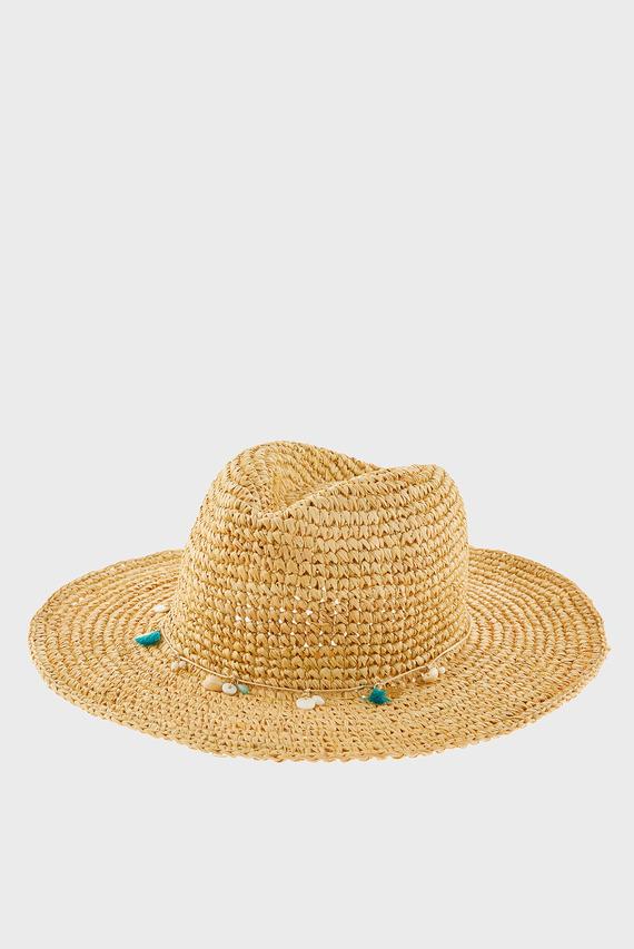 Женская бежевая шляпа STETSON