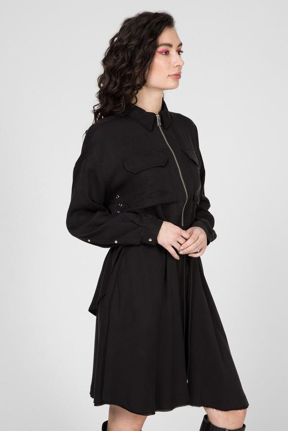 Женское черное платье D-RANIET