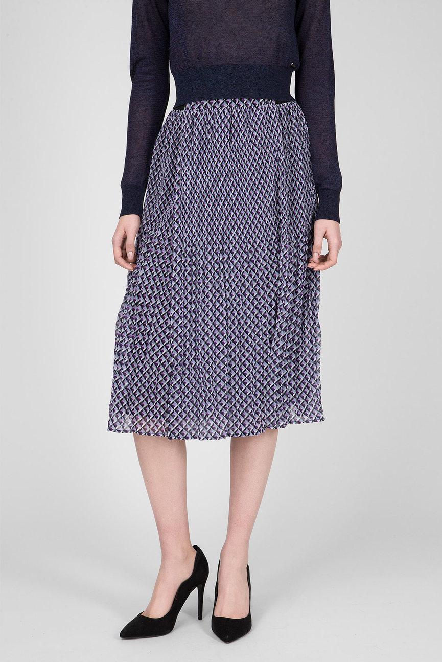 Женская фиолетовая юбка-плиссе YVONNE