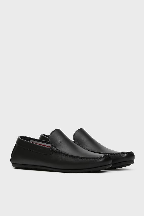 Мужские черные кожаные мокасины SMOOTH