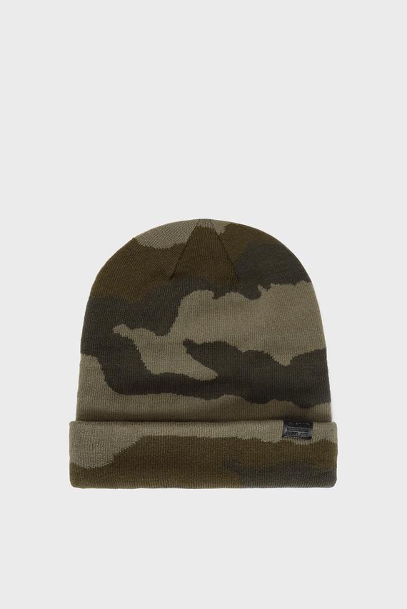 Мужская камуфляжная шапка Effo long beanie