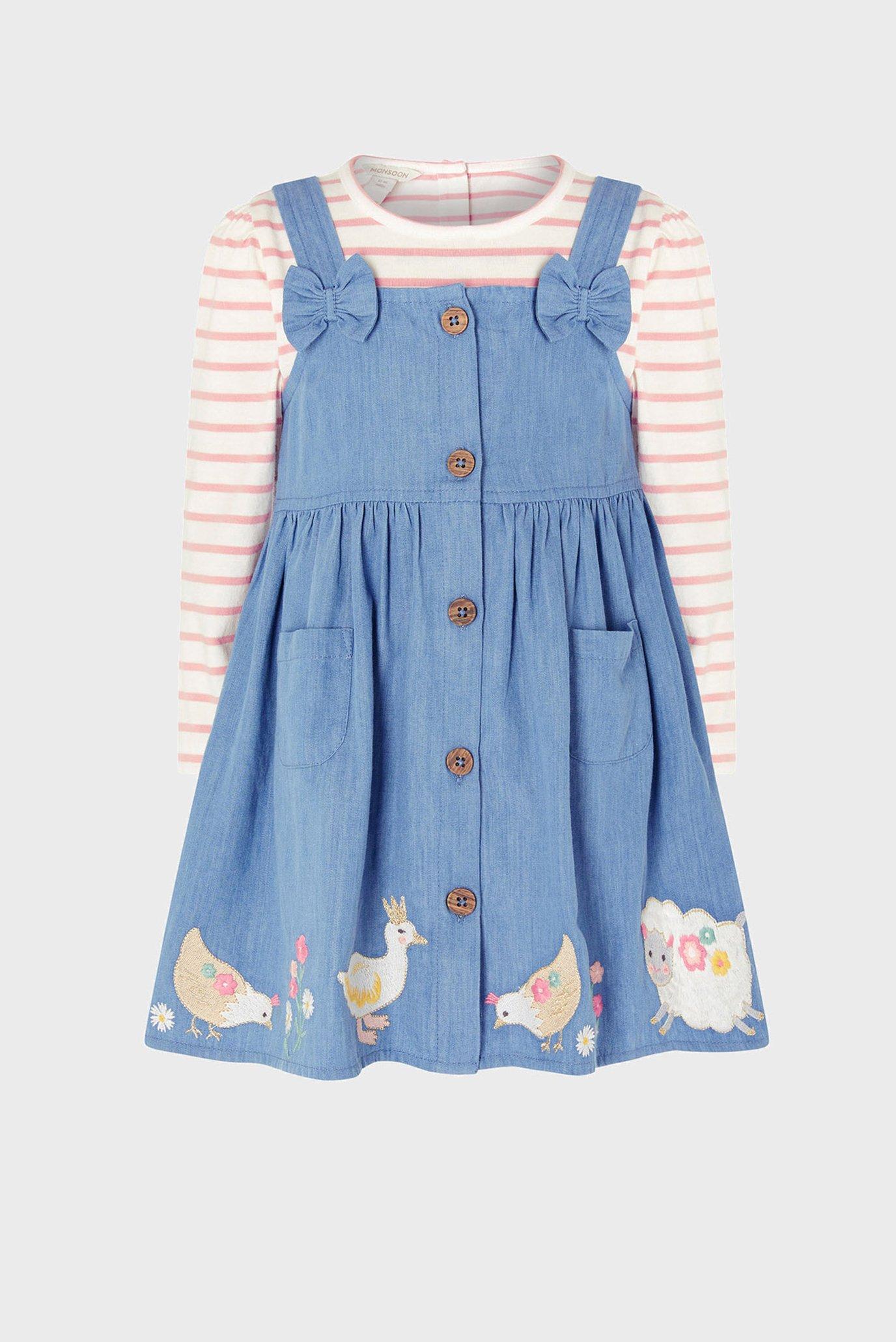 Дитячий комплект одягу (джемпер, сарафан) BABY DUCK DENIM PINN 1