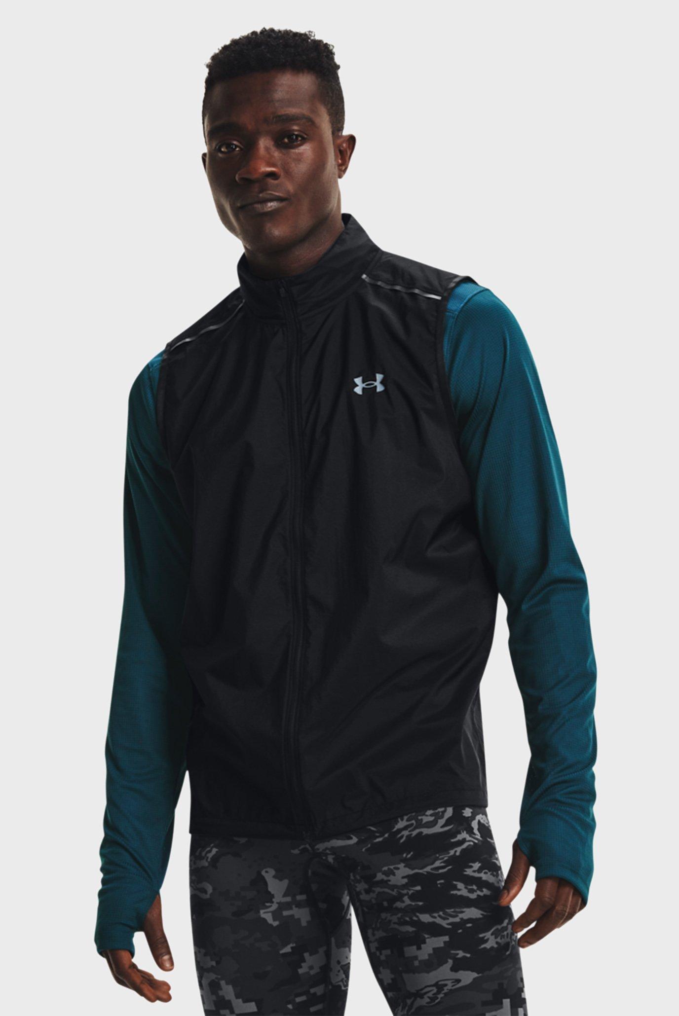 Мужской черный жилет UA OutRun the STORM Vest 1