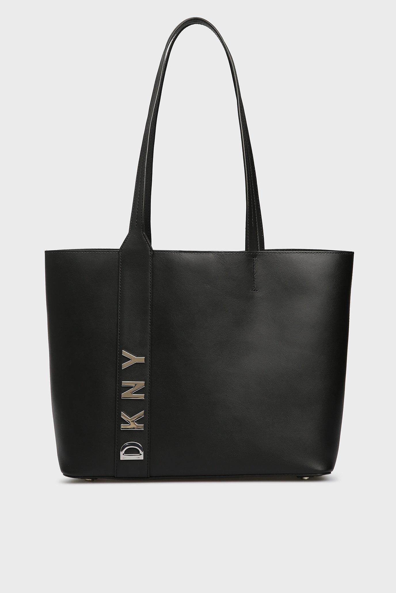 Купить Женская черная кожаная сумка на плечо DKNY DKNY R83AH641 – Киев,  Украина. Цены в интернет магазине ... 150dd62a5bb