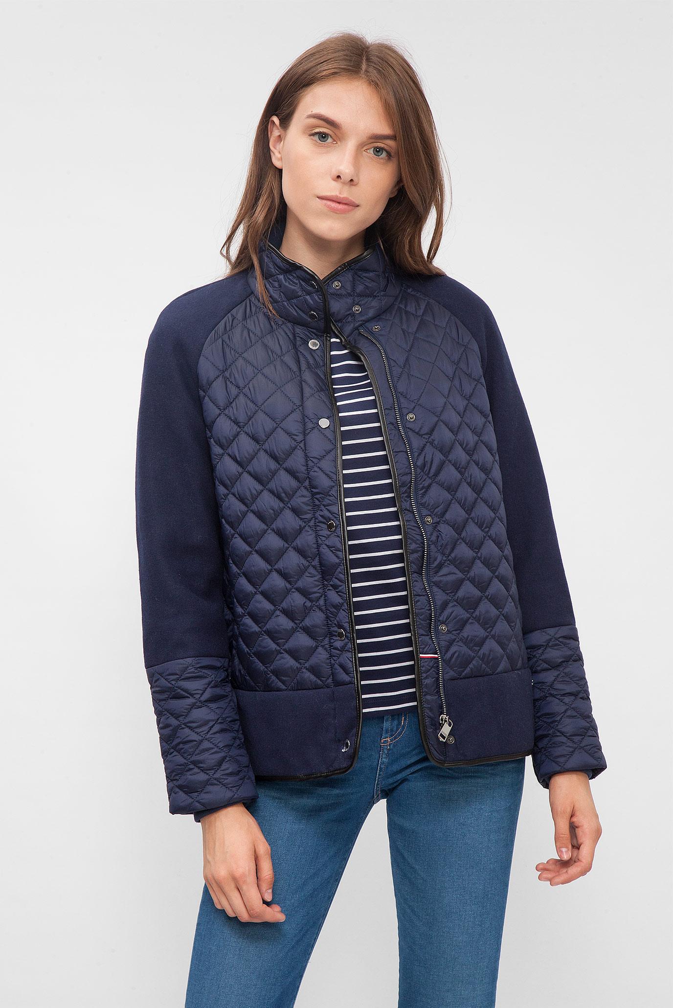 Купить Женская темно-синяя стеганая куртка Tommy Hilfiger Tommy Hilfiger  WW0WW18867 – Киев 6a77b6579021a