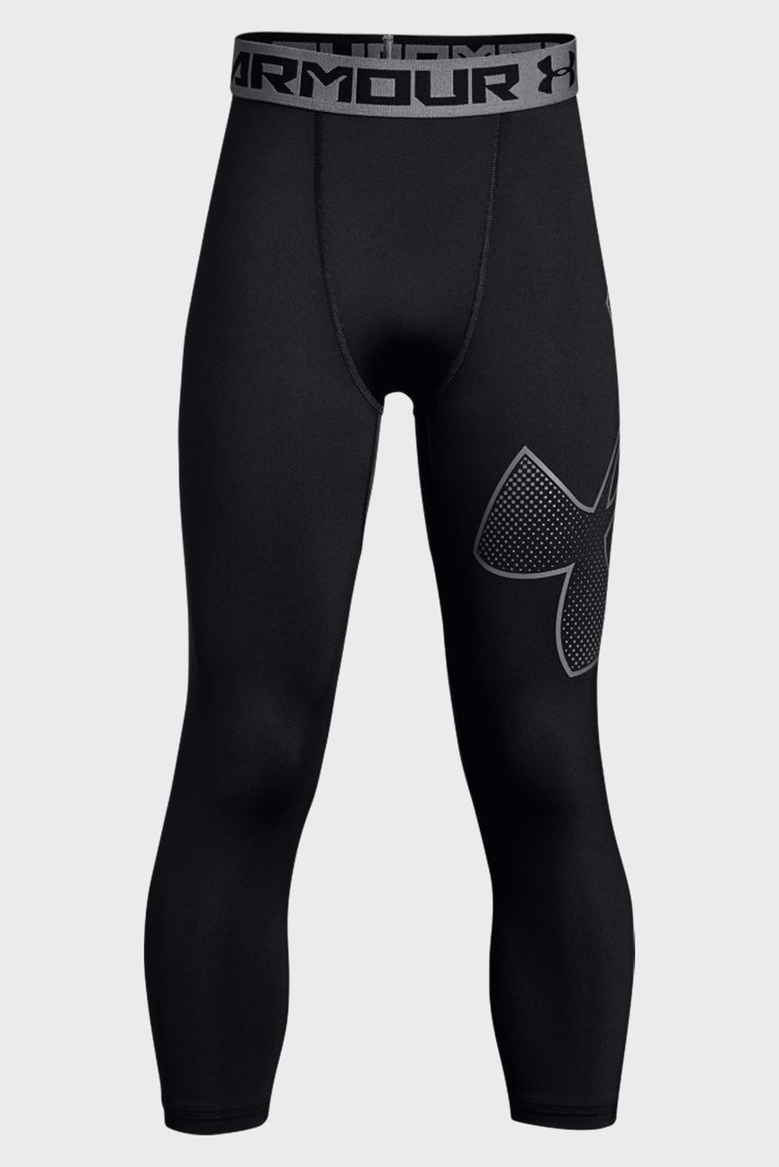 Детские черные тайтсы Armour 3/4 Logo Legging