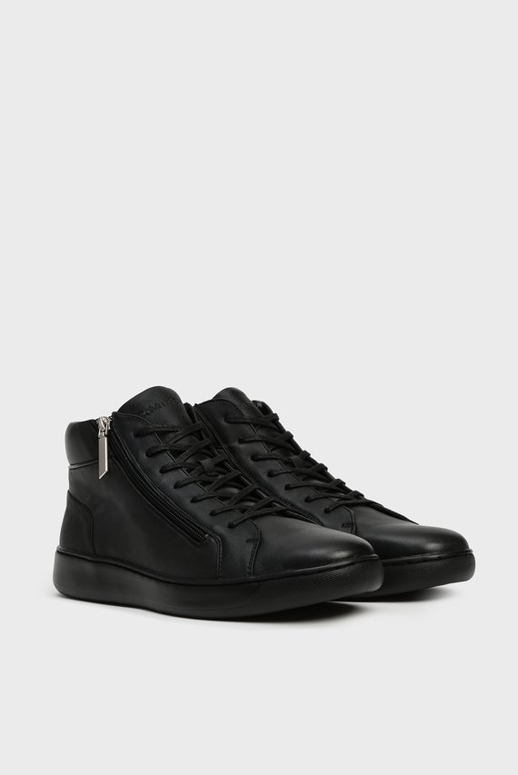 Мужские черные кожаные хайтопы FRANSISCO