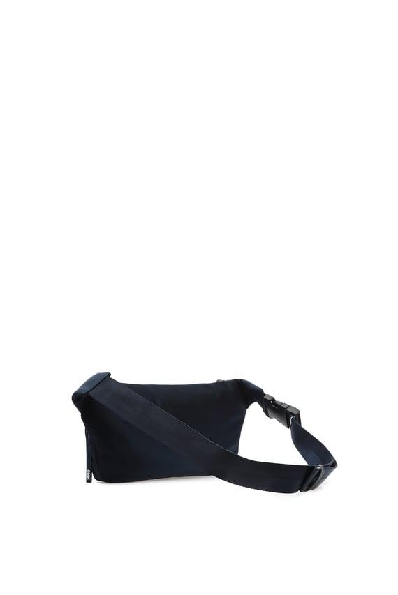 Мужская темно-синяя поясная сумка