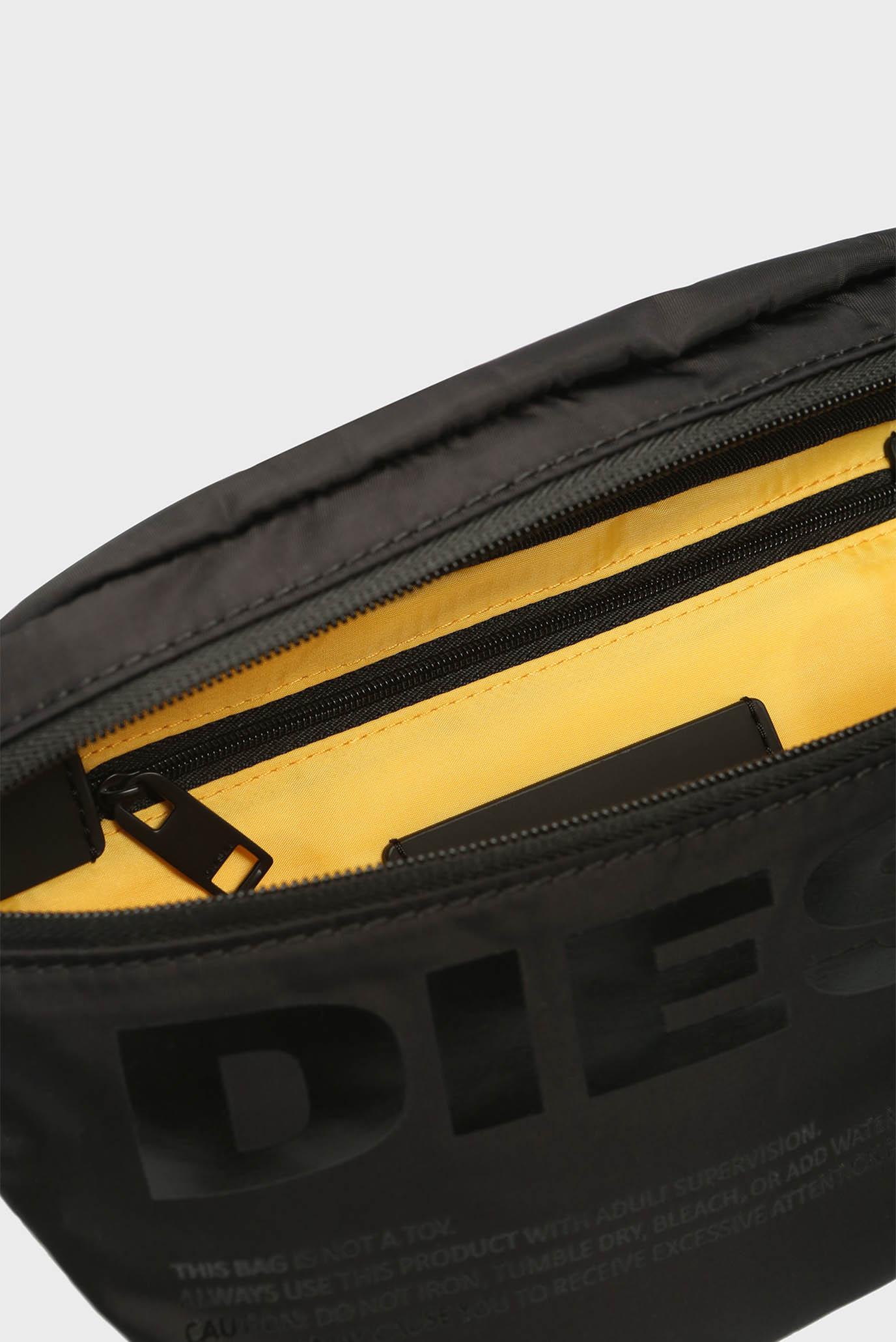 Мужская черная поясная сумка SUSEGANA Diesel
