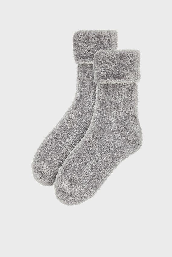 Женские серые носки FLUFFY CHENILLE COSY